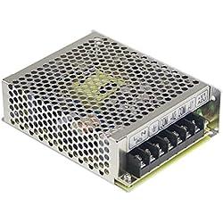 Fuente de alimentación conmutada, fuente de alimentación LED 50,4W 12V 4,2A; MeanWell, RS-50-12