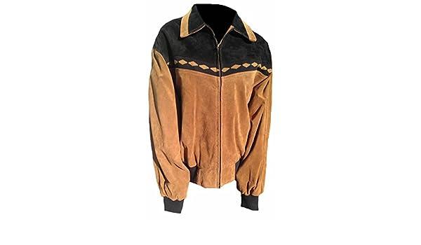 Classyak da Uomo Fashion Style Giacca Bomber in Pelle Scamosciata   Amazon.it  Abbigliamento 6da9671e292