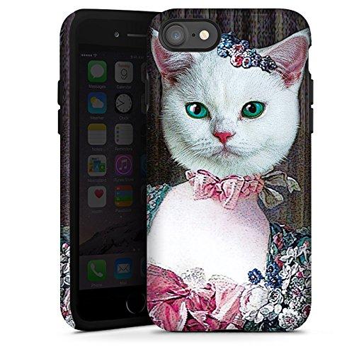 Apple iPhone X Silikon Hülle Case Schutzhülle Kitty Cat Katze Madame Tough Case glänzend