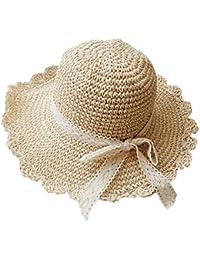 chapeaul paja niño Niña sombrero sol niños sombrero verano niño Niña  sombrero niño anti UV Capeline 8d058a5b401