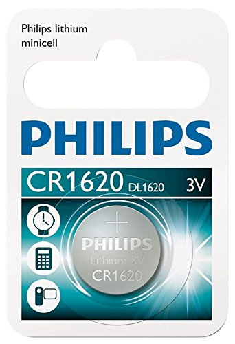 Blister 1 CR1620 Lithium Knopfzelle von Philips