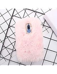 Miagon Handyhülle für Huawei Mate 10 Lite,Diamant Schutzhülle für Huawei Mate 10 Lite, Liebling Lustig Kunstpelz Plüsch Fluffy Glänzend Handytasche Schale für Huawei Mate 10 Lite