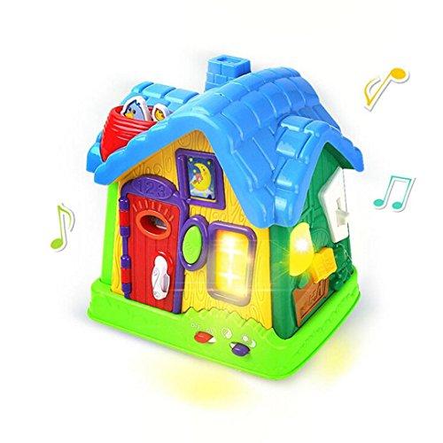 Omiky® Kinderspielzeug-musikalisches Buntes Baby-Spaß-Haus, Viele Arten Musik, Mädchen-Jungen-Kleinkinder und Babyspielwaren, elektronische Geometrie (Mehrfarbig)