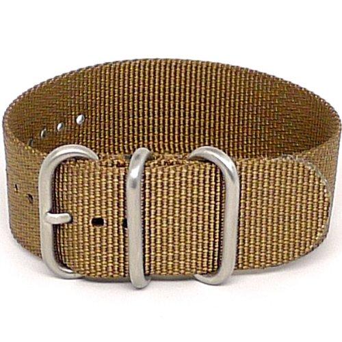 daluca-montre-nato-en-nylon-balistique-1-piece-sangle-boucle-sable-mat-26-mm