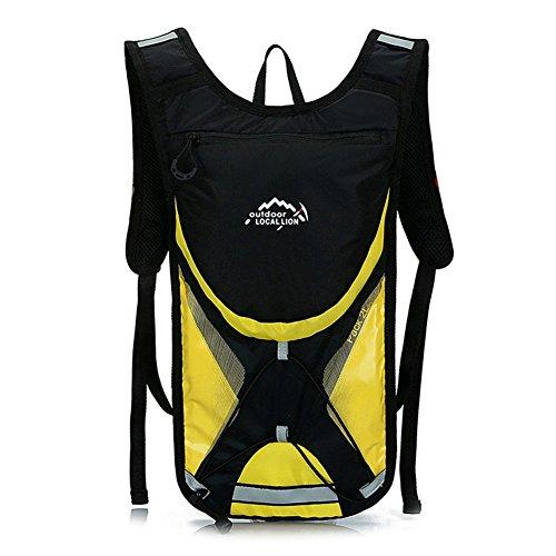 West Biken 2L Laufen Wandern Klettern Tasche Radfahren und Reiten-Tasche Outdoor Rucksack für Männer Frauen Road Bike Staubbeutel Gelb - gelb