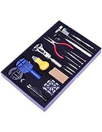 20 PCS Reloj completo reparación Kit trasero caso abrelatas destornillador pinzas reloj banda enlace pernos a relojero profesional, herramientas de reparacion