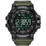 Smael Herren Sport Digital Armbanduhr Dual Quarz Bewegung Military Handgelenk Uhren Zeit mit Hintergrundbeleuchtung