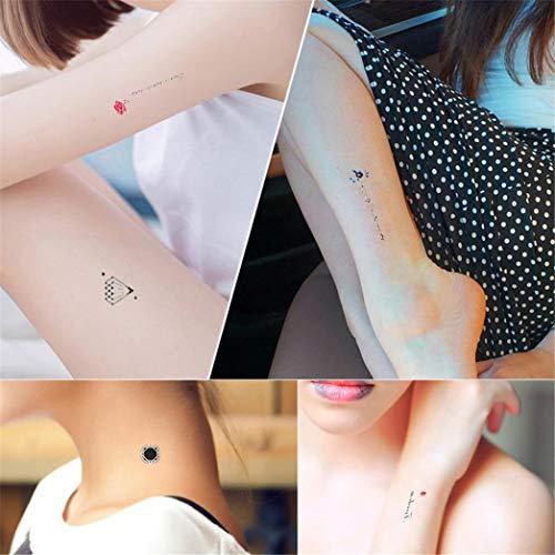 TAOtTAO 30pcs Blatt temporäre metallische Tätowierung Gold Silber Flash Tattoos inspiriert (D) (Und Farben Ninjago-namen)