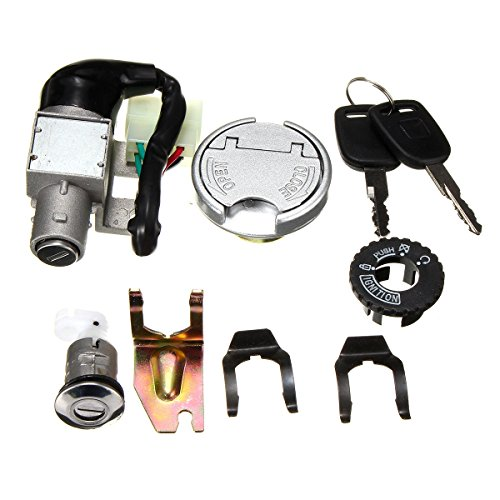 Generic GY6 50cc Universal Ignition Lock Switch Fuel Tank Cap Key Set For Scooter Moped Bike