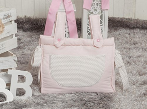 talega-baby-bread-leatherette-zip-pique-with-brightness-pink-novelty-includes-long-handle-for-carry