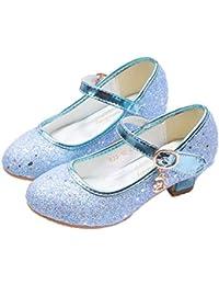 LCXYYY Kinder Mädchen Festlich Glitzer Pailletten Bogen High Heels  Tanzschuhe Studenten Ballerina Prinzessin Sandalen Frozen Schuhe 6cb8578919