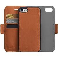 AmazonBasics 2-in-1 Schutzhülle mit abnehmbarem Case für iPhone 7 & 8 aus Kunstleder, Braun