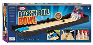 POOF-Slinky 33202BL Ideal Rack N' Roll Bowling Game with Spring-Loaded Launcher and Automatic Ball Return, 5-Foot Lane by Ideal TOY (English Manual)