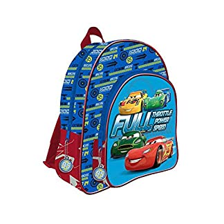CARS de DISNEY Mochila 41 cm con 2 cremalleras adaptable a carro trolley