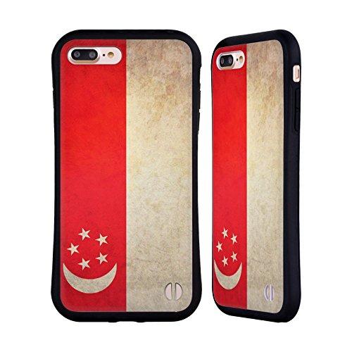 Head Case Designs Austalien Australianisch Vintage Fahnen Hybrid Hülle für Apple iPhone 6 / 6s Singapur Singapurisch