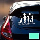 Autotattoo 3 Jungs 1 Hund Heckscheiben Aufkleber Namensaufkleber Kinder und Namen Wunschnamen Sticker M2391 - ausgewählte Farbe: *mint* ausgewählte Größe: *S - 20cm hoch x 26,5cm breit