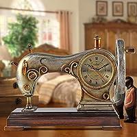 LUO Reloj de Mesa Antique European Bell Silent Living Room Reloj de cabecera Reloj Decoración Creativa