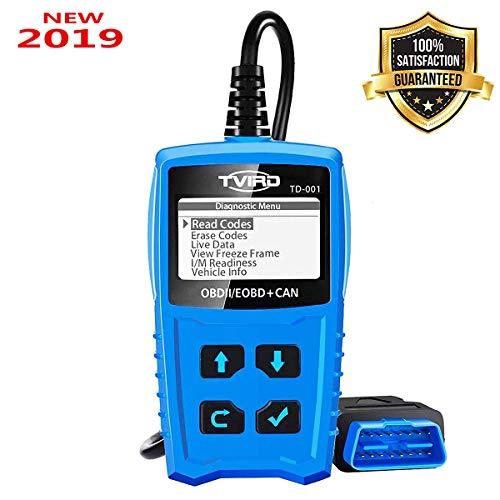OBD2 Diagnosegerät Auto Diagnosewerkzeuge Tvird Universal Diagnose Scanner für alle Fahrzeuge ab 2000 mit OBD II Protokolle/standardem 16-pin OBD-II Schnittstelle/Batterietest EOBD Code Reader