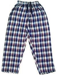 Twist Men's Red & Blue & White Checked Cotton Pyjama Sleepwear Night Wear,(S)