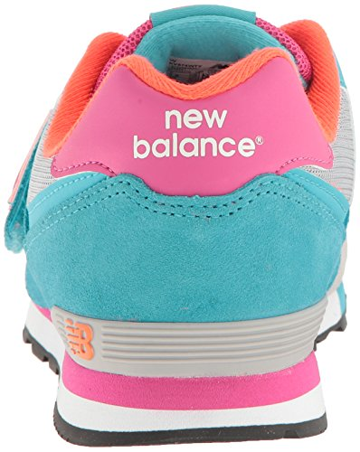 New Balance Kv574wti M Hook and Loop, Scarpe da Ginnastica Basse Unisex – Bambini Multicolore (Grey/turquoise)