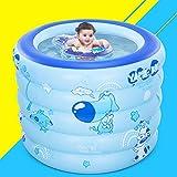 Piscina Gonfiabile-Secchio Per Il Nuoto Casa Per Bambini Palloncino Marino Per Piscina Gonfiabile Isolante Blue 100 * 80 * 12Cm Round