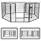 Zoomundo Pet Play Pen Dog Cat Puppy Playpen Puppy Area Folding Run Cage Metal Fence 8 Pieces