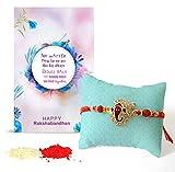 #3: TiedRibbons Rakhi for Brother | Rakshabandhan Gift for Brother | Gift for Rakshabandhan | Rakhi Gifts | Rakhi for Brother | Rakshabandhan Gift for Brother Handmade Rakhi with Roli chawal Pack and Rakshabandhan Special Placard