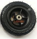 150MM rueda de la inflación de la vespa con el eje de la aleación de aluminio 6 'neumático neumático con el tubo interno Scooter eléctrico 6 pulgadas neumático neumático (black)