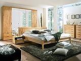 moebel-eins Ramie Komplett-Schlafzimmer, Material Teilmassiv, Kernbuche geölt