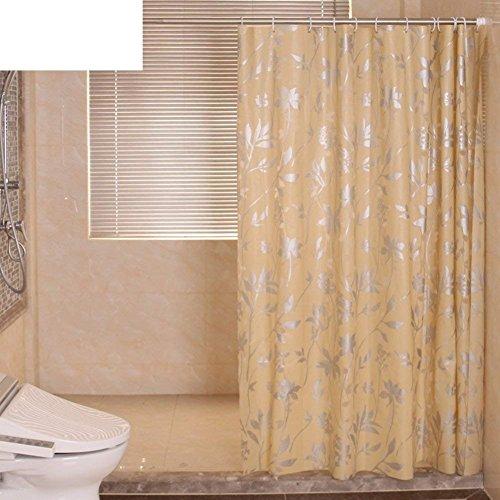Pvc-grüner Kreis Duschvorhang Kunststoff Duschvorhang Eva Wasserabweisend unempfindlich gegen den Test von Schimmel [Partition] Bad Vorhang Vorhang abgehängten Badewanne - G 150 X 180 cm (59 X 71 Cm)