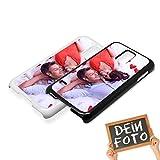 Handyhülle für Samsung Galaxy-Serie selbst gestalten * eigenes Foto * Schutz mit eigenem Bild, Handymodell:Samsung Galaxy S5 / S5 Neo, Farbe:Schwarz (Matt)