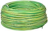 Cofan 51002554V Rollo de Cable, Amarillo y Verde, 1 x 1.5 mm, 100 m