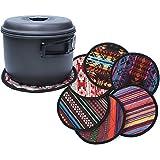 Saniswink 1PC zufällige Farbe Stil Ethnic rund hitzebeständig Topflappen, Rutschfest, wasserfest und leicht zu Reinigen Multi
