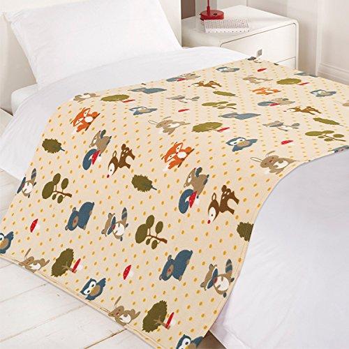 dreamscene-woodland-fox-fleece-blanket-multi-120-x-150-centimetre
