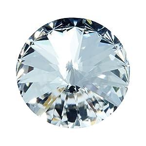 Heideman Swarovski Wechselstein für Ring Damen Schmuck 1122 Rivoli Stein Kristall foliert zum Colori Damenring für Frauen 10mm