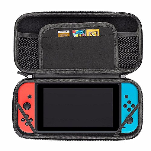 Preisvergleich Produktbild Mocolo Nintendo Switch Carrying Game Traveler Deluxe Travel Case Nintendo Switch Hard Carry Case with 5 Game Cartridge Holders Hard Protective Cases Cover Shell Carrying Cases for Nintendo Switch Black