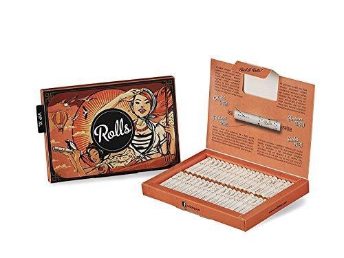 Rolls Smart Filter Tips fertig vorgerollter Filtertip 80 Stück (5mm Slim) VIP Pack XL (Orange) - Jamaika-geschenk-set