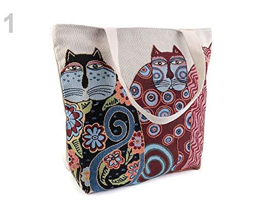 1stück 1 Naturfarbe Hell Katze Leinen Tasche Eule, Katze, Fuchs 43x44 Cm, Taschen Aus Naturmaterial, Trendy Taschen, Handtaschen Und Rucksäcke, Modisches Zubehör -