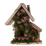 FLAMEER Kleine Vögel Nisthaus Haus Wildvogelhaus Haustier Vogelfutterhaus, Vogelvilla aus Holz