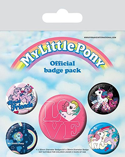 Pyramid International My Little Pony Retro Badge, mehrfarbig, 10 x 12,5 x 1,3 cm (My Pony-geschenk-tasche Little)