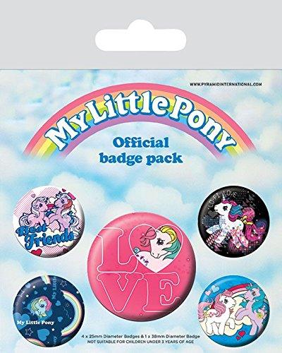 Pyramid International My Little Pony Retro Badge, mehrfarbig, 10x 12,5x 1,3cm (My Pony-geschenk-tasche Little)