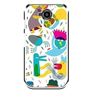 "Bhishoom Designer Printed 2D Transparent Hard Back Case Cover for ""Moto E2"" - Premium Quality Ultra Slim & Tough Protective Mobile Phone Case & Cover"