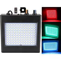 Luz de Estroboscopio, Latta Alvor luces de escenario para Discoteca Party Luz 108 LED DJ Luces Auto & Control de Sonido RGB/blanco (RGB)