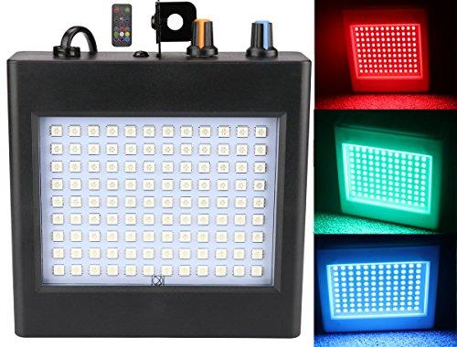 108 LED Stroboskop Licht, Latta Alvor Mini Party Licht Bühnenbeleuchtung Flashing Strobe Lampe für DJ Beleuchtung Lichteffekte Auto Sound RGB/Weiß (RGB)