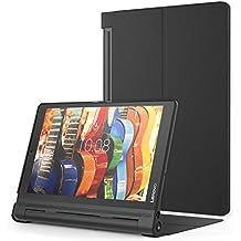 MoKo Lenovo YOGA Tab3 Plus 10.1 Funda - Premium Ultra Ligera Lightweight Shell Cover Case para Lenovo YOGA Tab 3 Plus (YT-X703F) 10.1 Pulgadas 2016 Tableta, Negro