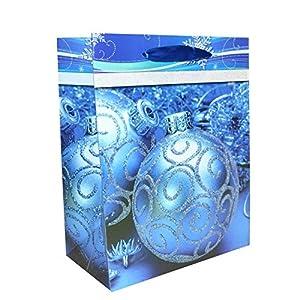 Gifts 4 All Occasions Limited SHATCHI-681 - Bolsas de papel para regalos (6 unidades), diseño navideño, color azul