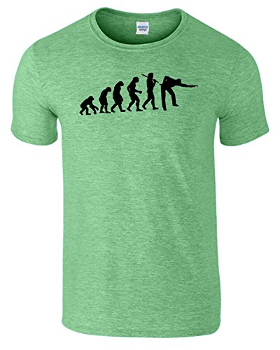 Evolution Of Snooker Herren T Shirt Schwimmbad Komisch Spiel Heide Irischen Grün / Schwarz Design