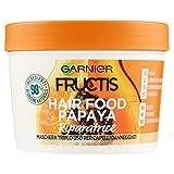 Fructis Hair Food Papaya Maschera Riparatrice 3 in 1 con Formula Vegana per Capelli Danneggiati - 390 ml