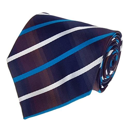 Segolike Mens Clothing Fashion Accessory Navy Blue Silk Tie Necktie White And Blue Diagonal Stripes Soft Durable Necktie