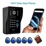 KKmoon WiFi Videoportero visión nocturna por infrarrojos Grabación de vídeo Inicio de Seguridad a prueba de lluvia